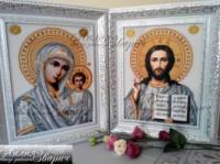 Венчальная пара (Икона Господа Иисуса Христа и Казанская Божья Матерь)