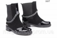 Женские ботинки замшевые с лаком 1037 Код:591453896 escape:'html'