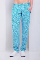 Летние голубые женские брюки-бананы из штапеля|escape:'html'