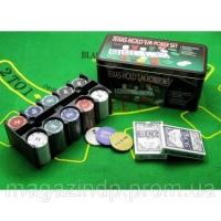 Покерный набор (2 колоды карт +200 фишек)(24,5х12х11,5 см)(вес фишки 4 гр. d-39 мм) Код:18979|escape:'html'