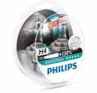 Галогенная лампа Philips H4 X-tremeVision +130% 12V (2шт.)