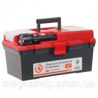Ящик для инструмента c фонарем 16« 395*220*200 мм INTERTOOL BX-0017 Код:628798411|escape:'html'