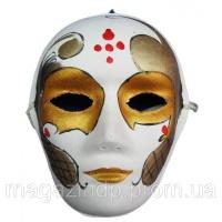 Маска карнавальная Венецианская папье-маше (25см) Код:29027|escape:'html'
