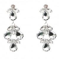Серьги «Givenchy» покрытие серебро с кристаллами swarovski|escape:'html'