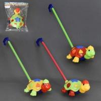 Каталка 902-1 (72/2) «Черепашка» на палочке, с погремушкой, 3 цвета, в кульке|escape:'html'