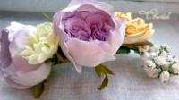 Невероятно красивый гребень ручной работы с реалистичными цветами от Светланы Сигаевой!