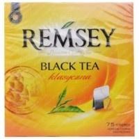 Чай чорний REMSEY Black Tea, 75 пакетиків.|escape:'html'