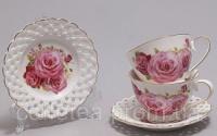 Кофейный сервиз «Букет роз» I 90мл 12 предметов