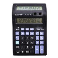 Калькулятор Кeenly 2 дисплея, подставка для ручек, с двойным дисплеем