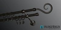 Карниз металлический PLASTIDEA для шторы 140 см.|escape:'html'