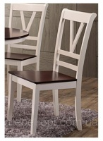 Стул Элис, деревянный стул с деревянным сиденьем, цвет ваниль-вишня антик escape:'html'
