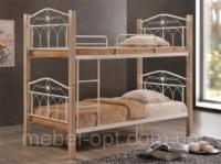 Двухъярусная кровать Миранда, детская двухъярусная кровать, цвет крем|escape:'html'