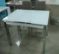 Стол стеклянный раскладной ТВ014 ультрабелый 96/156*70*75 см|escape:'html'
