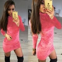 Короткое женское платье «Велюр», 2 цвета|escape:'html'