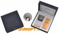 Электроимпульсная зажигалка в подарочной упаковке Jobon (Две перекрещенных молнии, USB) №XT-4884-2 Код:627505929|escape:'html'