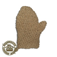 Мочалка лен, рукавица, ручной вязки №33|escape:'html'