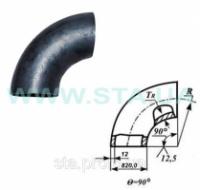 Отвод крутогнутый стальной 820x12мм ГОСТ17375-01|escape:'html'