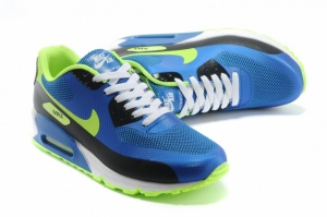 Nike Air Max 90 Hyperfuse синий/салатовый