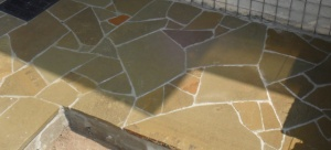 Укладка гранитной плитки плитняка песчаника кварцита