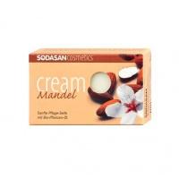 Sodasan 19002 Органическое мыло-крем Almond для лица с маслами Ши и Миндаля, 100 гр