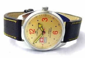 Мужские механические винтажные часы Fortis швейцарские 70s 38 мм