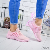 Кроссовки женские N розовые