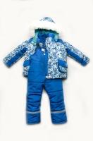 Зимний детский костюм-комбинезон для мальчика «Geometry new»