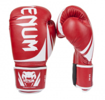 Перчатки боксерские кожаные VENUM Red 10,12 oz