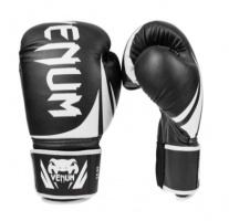 Перчатки боксерские кожаные VENUM черные 10,12 oz 10 OZ