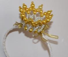 Корона из жемчужных бусин на ободке от автора handmade Анны Юриной!