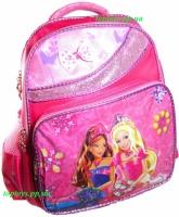 Рюкзак ранец для Девочки школьный. Розовый, с принцессами, качественный