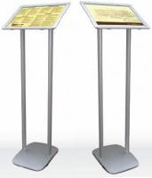 Напольная информационная стойка с рамкой 25 клик системы А4 формата (П«юпитеры)