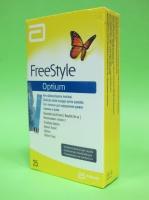 Тест-полоски Фристайл Оптиум (FreeStyle Optium) № 25