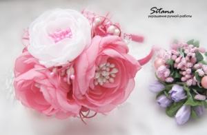 обруч розовые розы