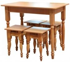 стол и 4 табурета столешница