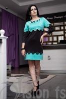 Платье «Колибри» 15550 (бирюзовый)