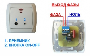 Выключатель управляемый с трёх ПДУ. Корпус VIKO