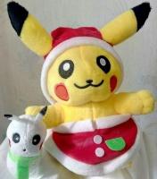 Покемон пикачу новогодний, плюшевая игрушка,22см