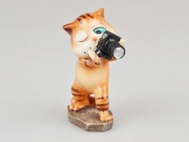 Фігурка декоративна «Кіт з фотоапаратом» 10 см