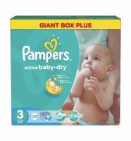 Подгузники Pampers Active Baby Midi 3 (4-9 кг) GIANT BOX PLUS 126 шт.