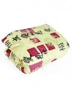 Одеяло шерсть стеганное в уп. (сатин+шерсть)