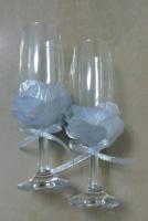 Свадебные бокалы «Серебро»