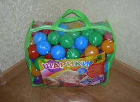 Шарики для сухого бассейна в сумке мягкие, 60 мм, 100 шаров