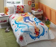 Постельное белье для подростков Пике - Тас Winx Stella Ocean