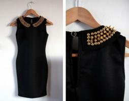 Короткое платье с шипами