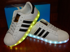 Adidas Superstar usb, 11 режимов led подсветки