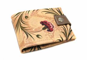Женский кошелек «Бордовый цветок. Картина на воде»