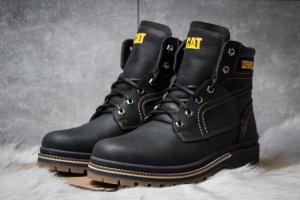 Зимние ботинки на меху CAT Caterpilar Anti-Glide, черные (30541),  [  40 43  ]