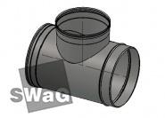 Тройник для дымохода к котлу SWAG d=160/d=180