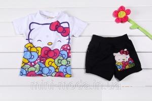 Детская футболка и шорты (костюм) на девочку «Китти»